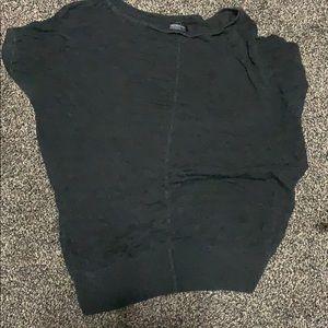 Black sheer work shirt